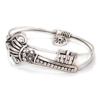 Sweet Romance Victorian Gothic Castle Key Bangle Bracelet