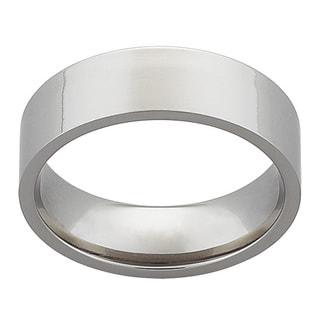 Titanium 7mm Flat Wedding Band