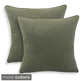 Convex Textured Woven 20-inch Toss Pillow (Set of 2)