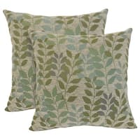 Fabian Chenille Leaf 20-inch Toss Pillow (Set of 2)