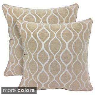 Gemma Chenille Geometri c20-inch Toss Pillow (Set of 2)