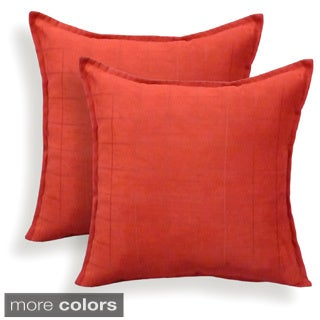 Mendon Embossed Suede 20-inch Toss Pillow (Set of 2)