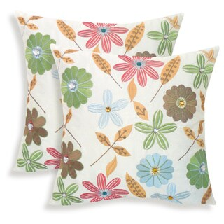 Milena Embroidered Jewel 18-inch Toss Pillow (Set of 2)
