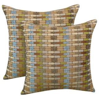 Othello Jacquard Geometric 20-inch Toss Pillow (Set of 2)