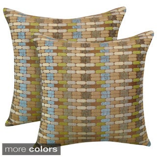 Othello Jacquard Geometric 20-inch Toss Pillow (Set of 2)