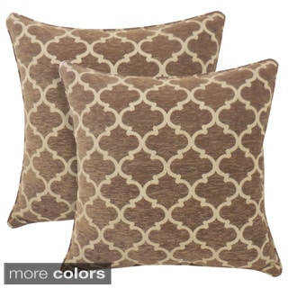 Sandglass Chenille Geometric 20-inch Toss Pillow (Set of 2)