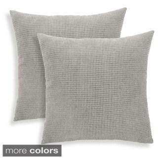 Tyler Textured Woven 18-inch Square Toss Pillows (Set of 2)