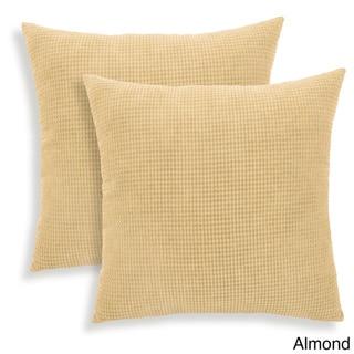 Tyler Textured Woven 18-inch Toss Pillow (Set of 2)