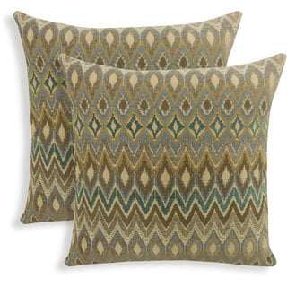 San Mateo Woven Flame Stitch 20-inch Toss Pillow (Set of 2)