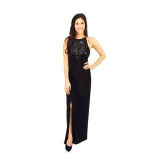 R&M Richards Popover Beaded Evening Gown