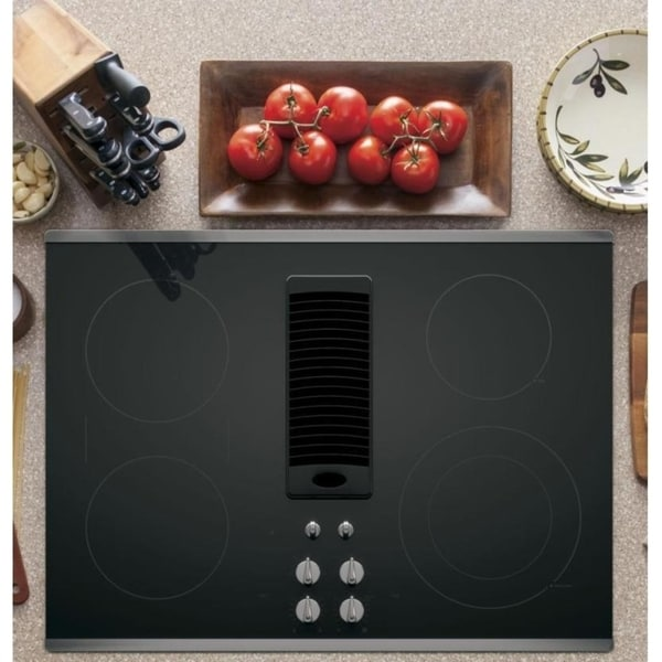 ge profile 30inch downdraft electric cooktop