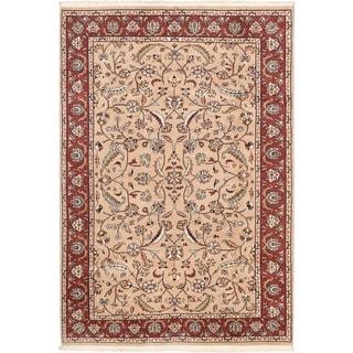 Ecarpetgallery Royal Safaviah Beige Wool Open Field Rug (6' X 8'10)