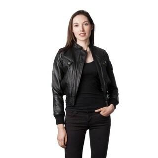 Wilda Women's Rocha Black Leather Jacket