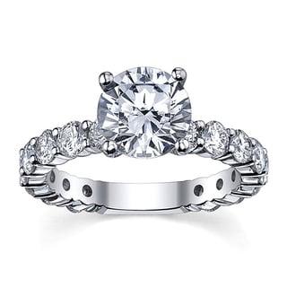 14k White Gold 3 5/8ct TDW Diamond Engagement Ring (G-H, SI1-SI2)