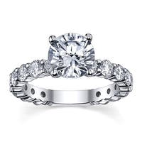 14k White Gold 3 5/8ct TDW Diamond Engagement Ring