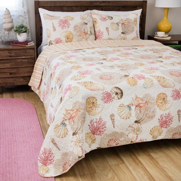 Shop Greenland Home Fashions Castaway Cotton 3-piece Quilt