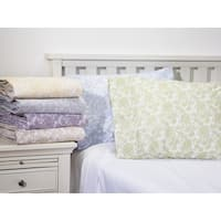 Home Fashion Designs Cambridge Collection 300 Thread Count Cotton Rich Printed Luxury Sheet Set