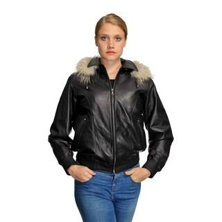 Wilda Women's Amy Black Leather Coat
