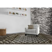 LYKE Home Audrey Brown Area Rug - 5'3 x 7'3