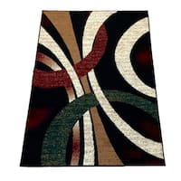 LYKE Home Black Area Rug (8' x 10')