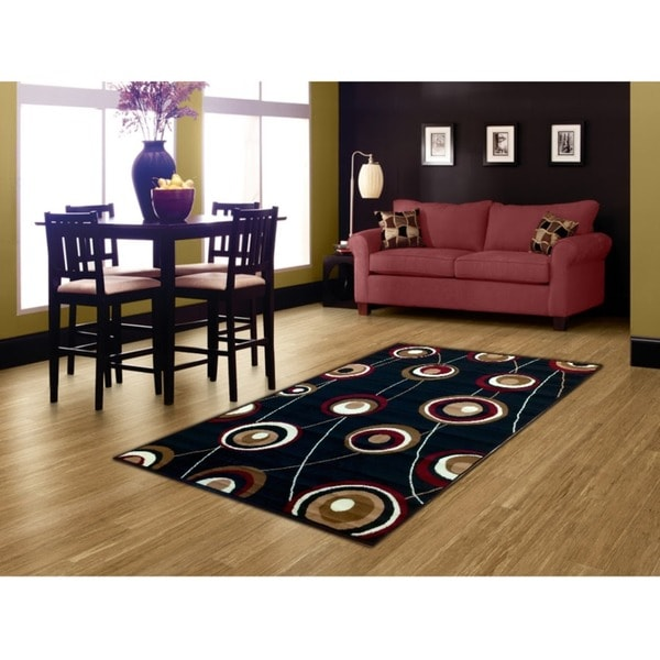 LYKE Home Black Area Rug (8' x 10') - 8' x 10'