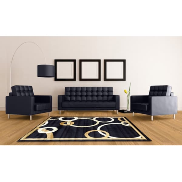 """LYKE HomeAudrey Navy Blue Area Rug - 7'10"""" x 9'10"""""""