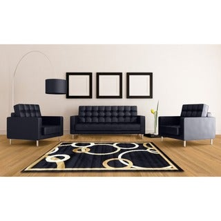 LYKE HomeAudrey Navy Blue Area Rug (7'10 x 9'10)