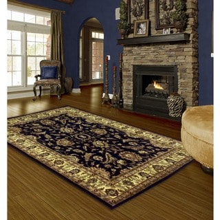 LYKE Home Audrey Navy Blue Area Rug (7'10 x 10'2)