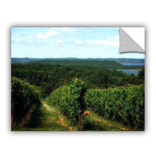 ArtWall Kevin Calkins ' Vineyard On The Peninsula' Artappealz Removable Wall Art