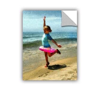 ArtWall Kevin Calkins ' Summertime Girl' Artappealz Removable Wall Art