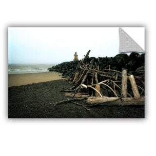 ArtWall Kevin Calkins ' Soth Jetty And Driftwood' Artappealz Removable Wall Art