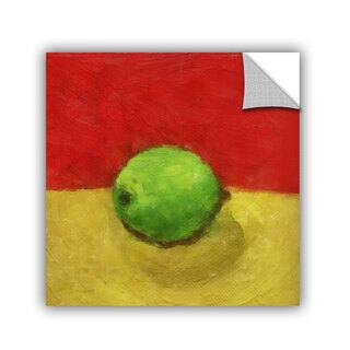 ArtWall Kevin Calkins ' Lime With Red And Gold' Artappealz Removable Wall Art|https://ak1.ostkcdn.com/images/products/10230167/P17351012.jpg?impolicy=medium