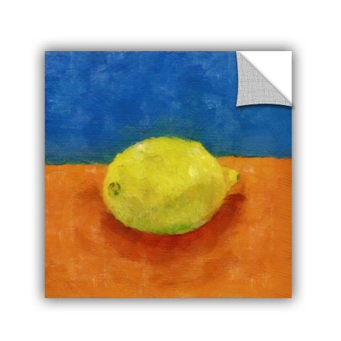 ArtWall Kevin Calkins ' Lemon With Blue And Orange' Artappealz Removable Wall Art