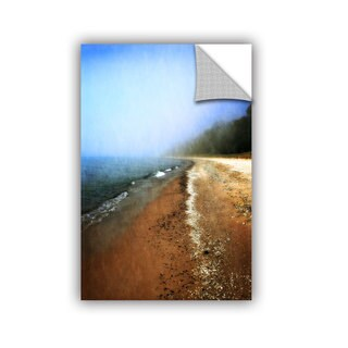 ArtWall Kevin Calkins ' Foggy Day At The Beach' Artappealz Removable Wall Art