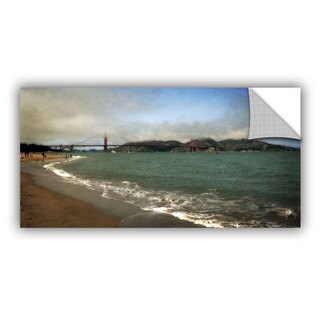 ArtWall Kevin Calkins ' East Beach And Golden Gate' Artappealz Removable Wall Art