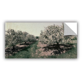 ArtWall Kevin Calkins ' Apple Orchard And Picket Fence' Artappealz Removable Wall Art