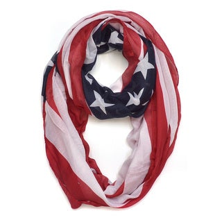 Link to Dasein American Flag Colors Scarf Similar Items in Scarves & Wraps
