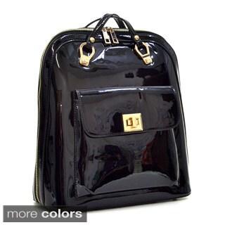 Dasein Sleek Patent Zip-Around Backpack