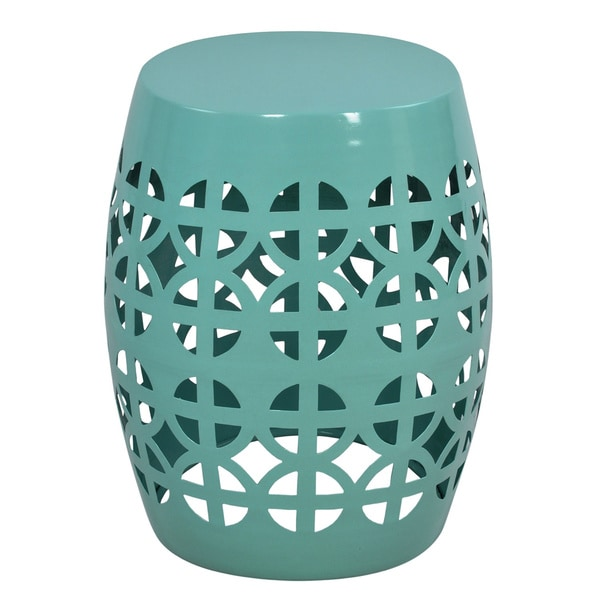Artisan Aqua Garden Stool Side Table Free Shipping