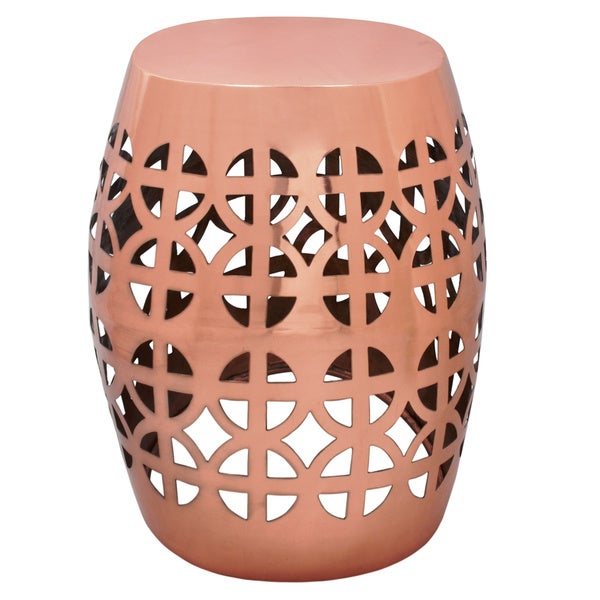 Artisan Copper Garden Stool Side Table Free Shipping Today