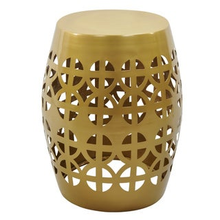 Artisan Gold Garden Stool/ Side Table