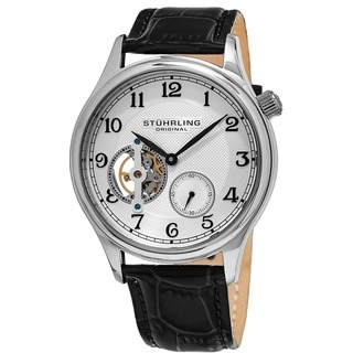 Stuhrling Original Men's Classique Mechanical Leather Strap Watch