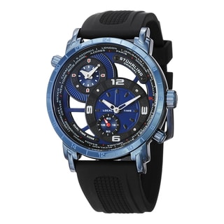 Stuhrling Original Men's Renegade Skeletonized Swiss Quartz Leather Strap Watch