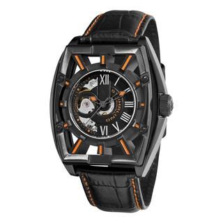 Stuhrling Original Men's Millennia Expo Skeletonized Automatic Leather Strap Watch