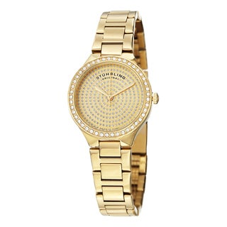 Stuhrling Original Women's Symphony Swiss Quartz Austrian Crystal Stainless Steel Bracelet Watch