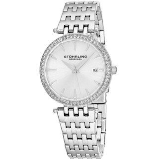 Stuhrling Original Women's Garland Quartz Minimal Crystal Dial Bracelet Watch