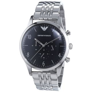 Emporio Armani Men's AR1863 Chronograph Silver Stainless steel Watch