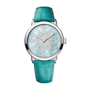 Rue Du Rhone Women's 87WA140015 'Double 8' Green Leather Watch
