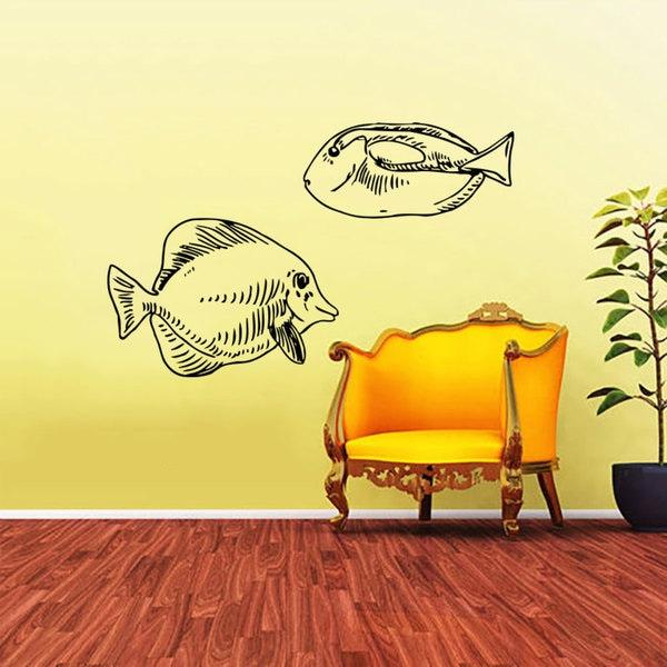 Fish Tank Air Bubles Vinyl Sticker Wall Art - Free Shipping On ...