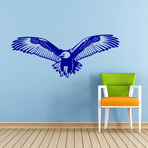 shop bald eagle vinyl sticker wall art - free shipping on orders